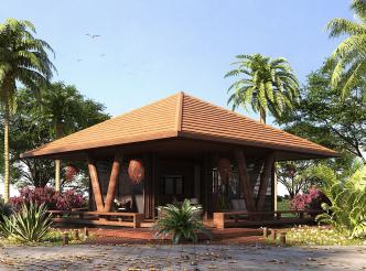 Bungalow tropical moderno